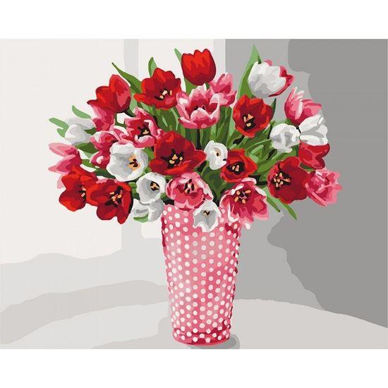Набір для розпису по номерах. Розмаїття тюльпанів 40х50 см