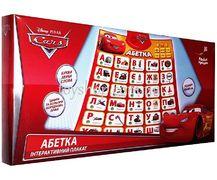 Плакат обучающий Абетка Cars, украинский язык, размер изделия 60*44*2 см, в коробке, на батарейке