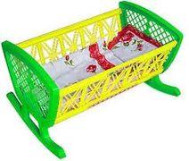 BAMSIC Іграшка дитяча Ліжечко з постіллю