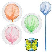 Сачок для бабочек, длина 100 см, длина ручки 80 см, диаметр 20 см, бамбук, 4 цвета