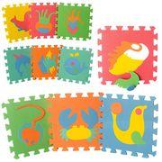 Коврик Мозаика EVA, морские животные, 10 дет. (8мм, 29-29 см), пазл, в кульке, 29-29-8 см