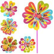 Ветрячок, 2 шт, размер средний, цветок, диаметр 22 см, палочка 28 см, 6 видов,в кульке, 22-22-2 см