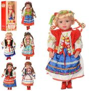 Кукла Україночка, мягконабивная, 47 cм, музыка (укр.песня), 6 видов, на батарейке (таблетка), в коро