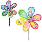 Ветрячок, размер большой, d=28 см, палочка 29,5 см, цветок, ПВХ, 2 вида (FR,DP), в кульке 28-28-2 см
