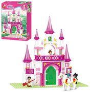 Конструктор SLUBAN замок принцессы, фигурки, 271 дет., в коробке 28,5-42,5-6,5 см