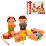 Деревянная игрушка Шнуровка MD, фигурки, в коробке 21-16-4 см