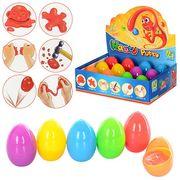 Жвачка для рук в пластиковом яйце, 6 цветов в дисплее, 12 шт. в дисплее, 19-14,5-5,5 см, ЦЕНА ЗА 1 Ш