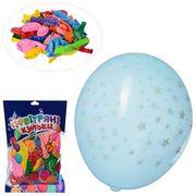 Шарики надувные, 12 дюймов, микс цветов, принт звезда, 50 шт. в кульке 20-18-2 см