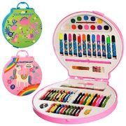 Набор для творчества, карандаши, фломастеры, мелки, акварельные краски, точилка, 2 вида, в чемодане,
