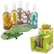 Лизун желейный, в бутылке, 13 см, ящерица, 12 шт (6 цветов) в дисплее, 16,5-13,5-12,5 см, ЦЕНА ЗА 1