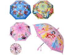 Зонтик детский, длина 66 см, трость 61 см, диаметр 83 см, спица 48 см, 4 вида (DP,FR,СП,ТЧ), свисток