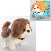Собака, 15 см, ходит, звук, 2 цвета, на батарейке, в коробке 10-16-15 см