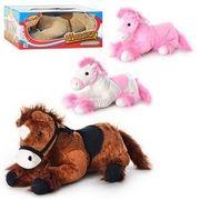 Лошадь, размер средний +, 32 см, музыкальная (рус.), мягкая, 4 цвета, в коробке 36-15-20 см