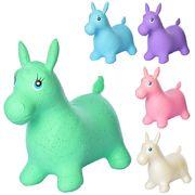 Прыгуны-лошадки, ПВХ, 1250 г, 58-28-50 см, 5 цветов, блестки, в кульке, 31-22-10 см