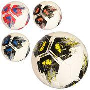 Мяч футбольный, размер 5, ПВХ, 400-420 г, 4 цвета, в кульке