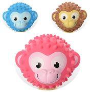 Мяч массажный, 5 дюймов, ПВХ, 100 г, 3 цвета, обезьянка
