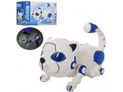 Животное кот 22,5 см, прыгает, переворачивается 360, музыка, свет, ходит, на батарейке, в коробке 21