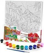 Креативна творчість Розпис на полотні Canvas Painting 31 см * 31 см, с. 5, № 4 динозаври