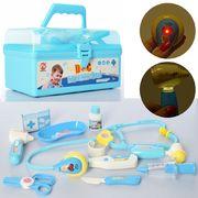 Доктор стетоскоп, мед.инструменты, звук, свет, на батареке (таблетка), в чемодане, в кульке 22-12-14