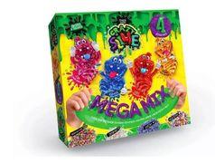 Безпечний освітній набір для проведення дослідів Crazy Slime 4 в 1 укр