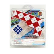 Игра головоломка, змейка, кубик 3,5-3,5 см, 4 цвета, в слюде 18,5-21,5-4 см