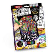Набір креативної творчості Бархатна розмальовка фломастерами  VELVET