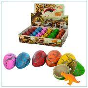Яйцо 5,5см, динозавр растущий 5см, 24 шт. (6цветов) в дисплее 29-19,5-6 см
