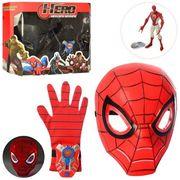 Набор супергероя, маска, перчат-диском, супергерой - светится, 2 вида(СП,BM), на батарейке, в коробк