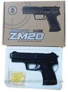 Пистолет, металл, пульки, в коробке 19,5*14*4 см