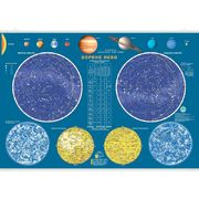 Карта звездного неба настенная 65x45 см картон ИПТ