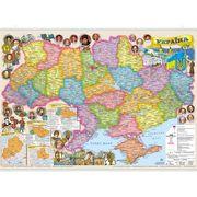 Карта настенная Иллюстрированная Украина 65х45 см М1:2 200 000 картон/планки ИПТ