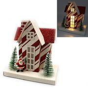 Новорічний  декоративний 3D будиночок з LED підсвічуванням Новий рік 13.0х12.5х8.5 см Josef Otten KP-F-0001