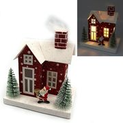 Новорічний декоративний 3D будиночок з LED підсвічуванням Різдво 13.0х12.5х8.5 см Josef Otten KP-F-0002