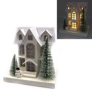 Новорічний декоративний 3D будиночок з LED підсвічуванням Christmas 16.0х15.5х11.5 см Josef Otten KP-F0005