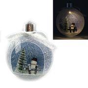 KP-0005 Елочный шар LED 3D фигура Елка 11,5х9,5х4см, 1шт/этик. (1)