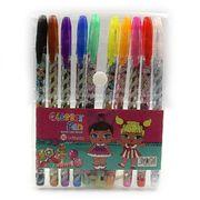 Набір гелевих ручок з глітером 1.0 мм 10  кольорів LOL Josef Otten L008-10(DSCN9788-10) (1/12/288)