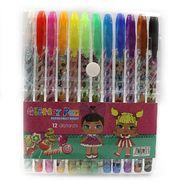 Набір гелевих ручок з глітером 1.0 мм 12 кольорів LOL Josef Otten L008-12(DSCN9788-12)  (1/12/288)