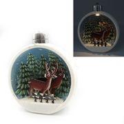 Новорічна куля Зимовий ліс з 3D малюнком та LED підсвічуванням. . Розмір 13.5х11.5х7 см Josef Otten KP-0082