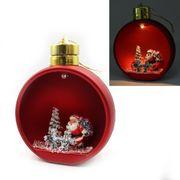 Новорічна куля Red з 3D фігурою та LED підсвічуванням. Розмір 13.5х11.5х7 см Josef Otten KP-0084-1