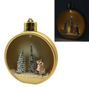 Новорічна куля Gold з 3D фігурою та LED підсвічуванням. Розмір 13.5х11.5х7 см Josef Otten KP-0085