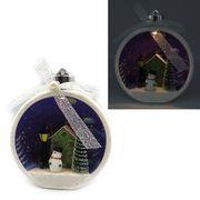 Новорічна куля Різдво з 3D фігурою та LED підсвічуванням. Розмір 13.5х11.5х7 см Josef Otten KP-0087