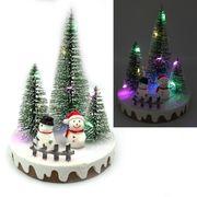 Новорічна декоративна 3D фігура з LED підсвічуванням Сніговики 14.0х10.5 см Josef Otten L-0090