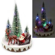 Новорічна декоративна 3D фігура з LED підсвічуванням Дід мороз 15х11х11 см Josef Otten L-0092
