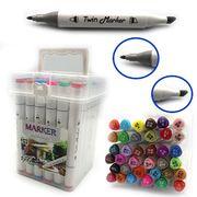 DSCN0228-36 Набор скетч маркеров M&S.,спирт.основа, трехгран.корп., 36цв, пласт.чемодан, 36шт/э (2