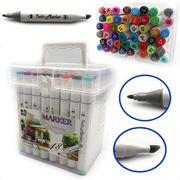 DSCN0228-48 Набор скетч маркеров M&S.,спирт.основа, трехгран.корп., 48цв, пласт.чемодан, 48шт/э (1