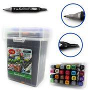 DSCN0229-24 Набор скет маркеров TouchCool скош+тонк, 24цв., пласт.чемодан, 24шт/этик. (2/30)