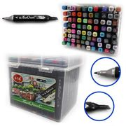 DSCN0229-80 Набор скет маркеров TouchCool 80цв., пласт. цемодан, 80шт/этик. (9)