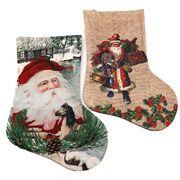 DSCN0595-L Носок новогодн. Дед Мороз 34*23см, mix, 1шт/этик. (1)