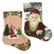 DSCN0595 Носок новогодн. Дед мороз 22*14см, mix, 1шт/этик. (1)