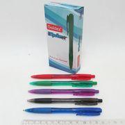 Ручка масляна автоматична синя 1.0 мм з гумовим тримачем мікс Tip star Goldex 1002